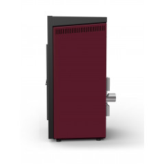 Qube Basic Estufas Pellet rojo corinto de 8 kW. de Aire. Lasian.