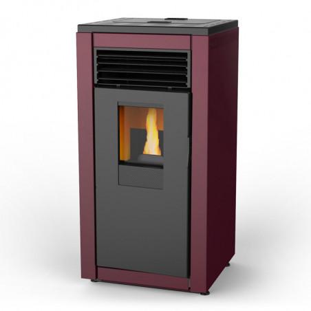 Estufas de Pellets Smart basic roja de 8 kW. de Aire. Lasian.