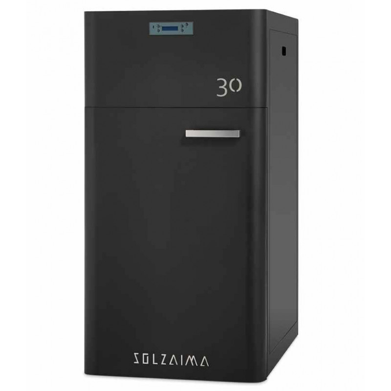 Caldera pellets SZMA 30 kW limpieza automática radiadores Solzaima
