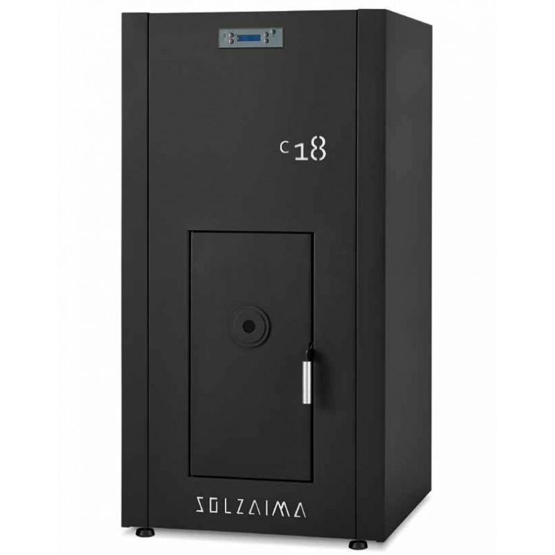 SZM C de 18 kW. Caldera compacta de agua por pellets. Solzaima
