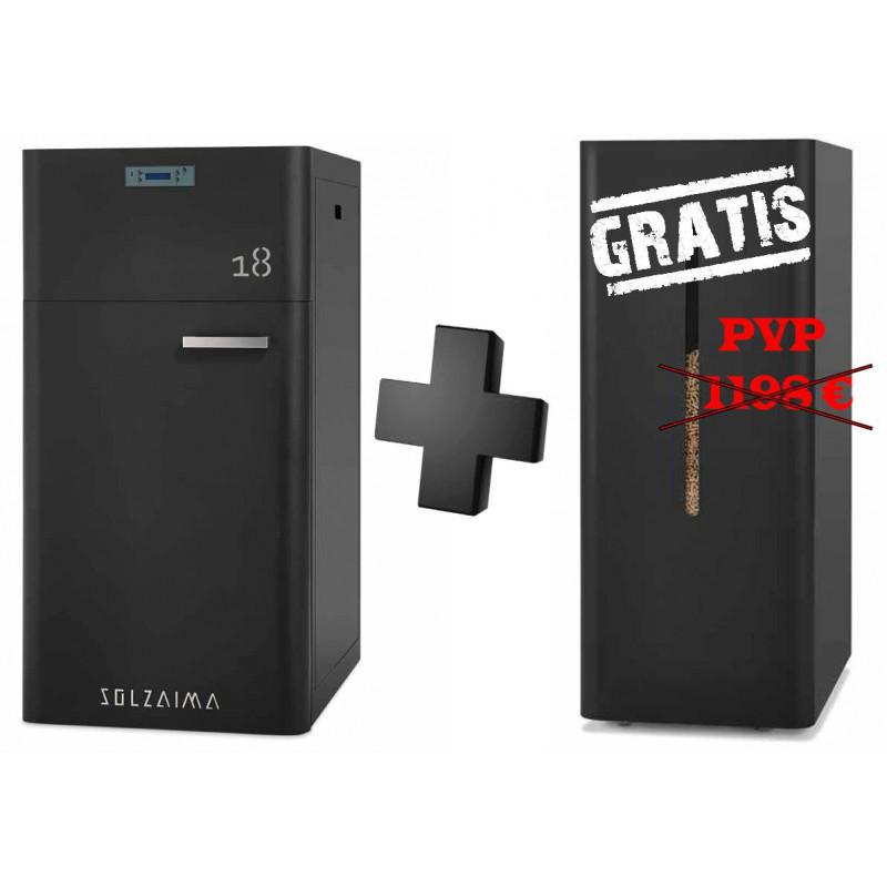Caldera de pellets SZM A 18 kW automática con depósito GRATIS Solzaima