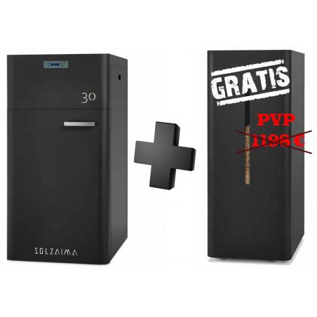 Caldera de pellets SZM A 30 kW automática con depósito GRATIS Solzaima