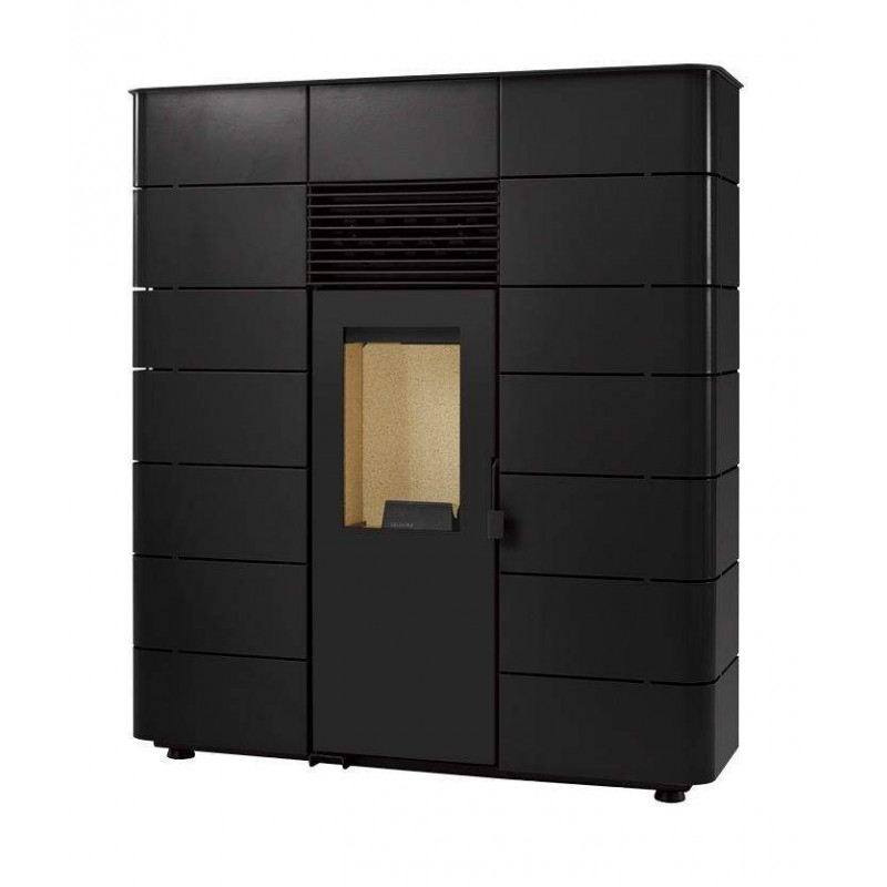 Estufas de Pellets de Pasillo Nevada Negras de 7 kW Solzaima