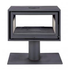 Estufas de Leña SLIM BOX 10kW Doble Cara de Solzaima vista frente