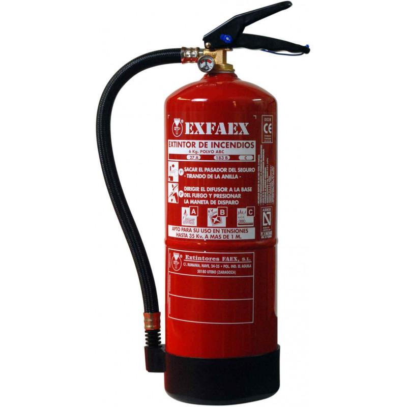 Extintor Polvo ABC de 6 Kg. EXFAEX