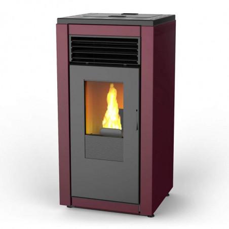 Estufas de Pellets aire canalizado 12 kW Smart Flow roja Lasian